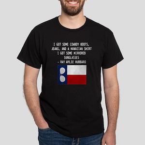 ray_wylie_sunglassesflag_center Dark T-Shirt