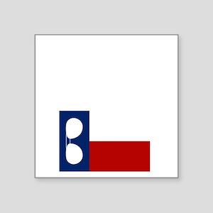 "ray_wylie_sunglassesflag_ce Square Sticker 3"" x 3"""