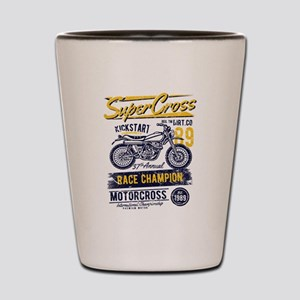 Motorcross Dirt Bike Shot Glass