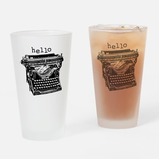 5x5_infant_underwoodhello Drinking Glass