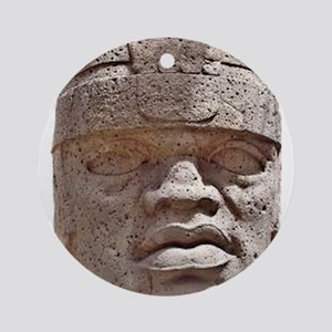 Olmec Head Ornament (Round)