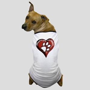 T-Shirt - pawprints on heart Dog T-Shirt