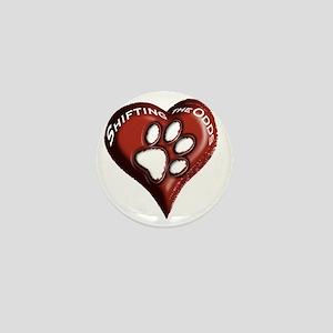 T-Shirt - pawprints on heart Mini Button