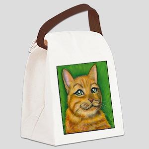 Tabby Cat Dennis Canvas Lunch Bag
