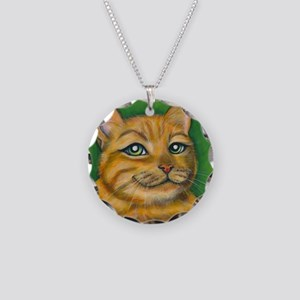 Tabby Cat Dennis Necklace Circle Charm