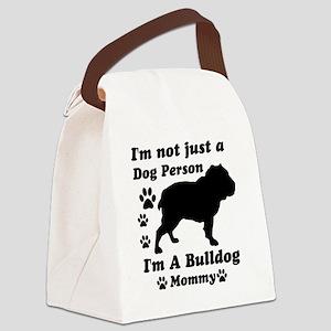 bulldog_mommy Canvas Lunch Bag