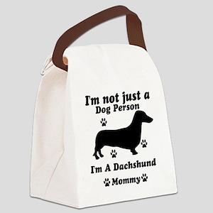 dachshund_mommy Canvas Lunch Bag