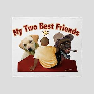 Alans 2 Best Friends Throw Blanket