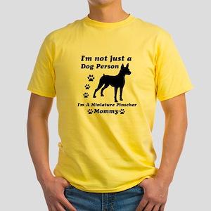 miniaturepinscher_mommy Yellow T-Shirt