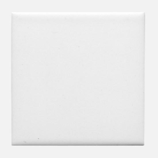poodle_mommy_white Tile Coaster