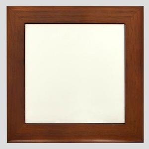 poodle_mommy_white Framed Tile