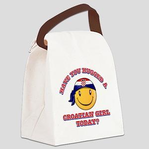 croatian-girl Canvas Lunch Bag