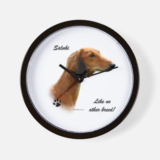 Saluki Breed Wall Clock