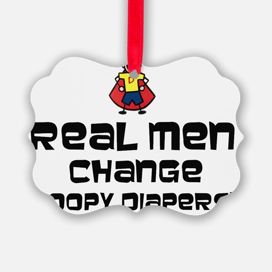 Reap Men change poopy diapers Ornament