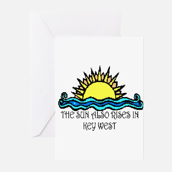sun also rises key west Greeting Cards (Package of