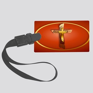 Patch Three Rugged Crosses Large Luggage Tag