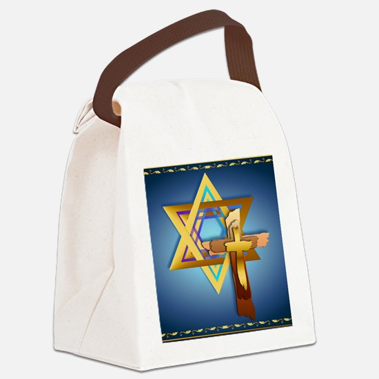 Star Of David and Triple Cross_mp Canvas Lunch Bag