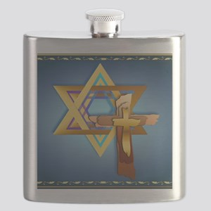 Star Of David and Triple Cross_mpad Flask