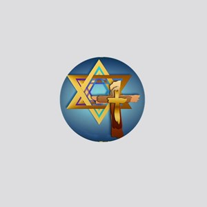 Star Of David and Triple Cross_mpad Mini Button