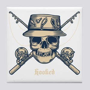 fisher-skull-DKT Tile Coaster