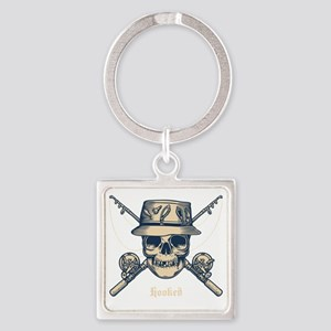 fisher-skull-DKT Square Keychain