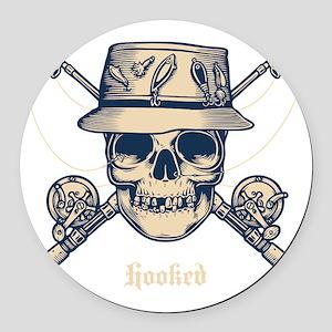 fisher-skull-DKT Round Car Magnet