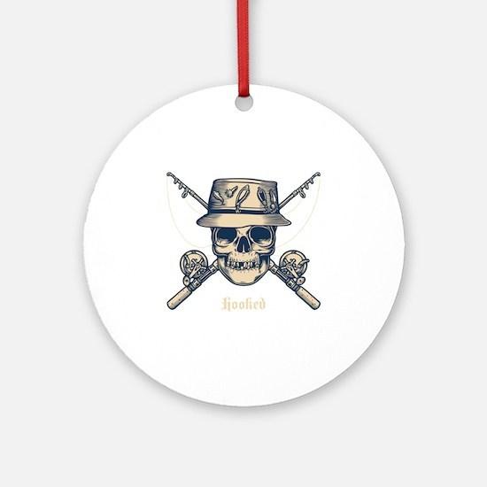 fisher-skull-DKT Round Ornament