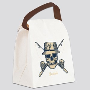 fisher-skull-DKT Canvas Lunch Bag