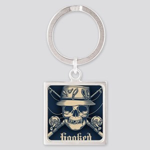 fisher-skull-OV Square Keychain