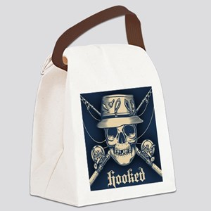 fisher-skull-OV Canvas Lunch Bag