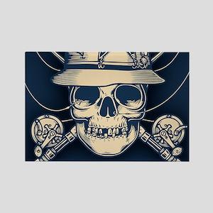 fisher-skull-OV Rectangle Magnet