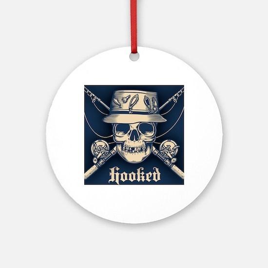 fisher-skull-OV Round Ornament