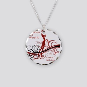 worth it midwives Necklace Circle Charm