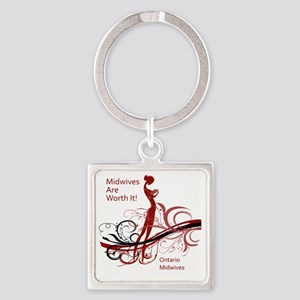 worth it midwives Square Keychain