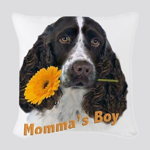 English Springer Spaniel Momma Woven Throw Pillow