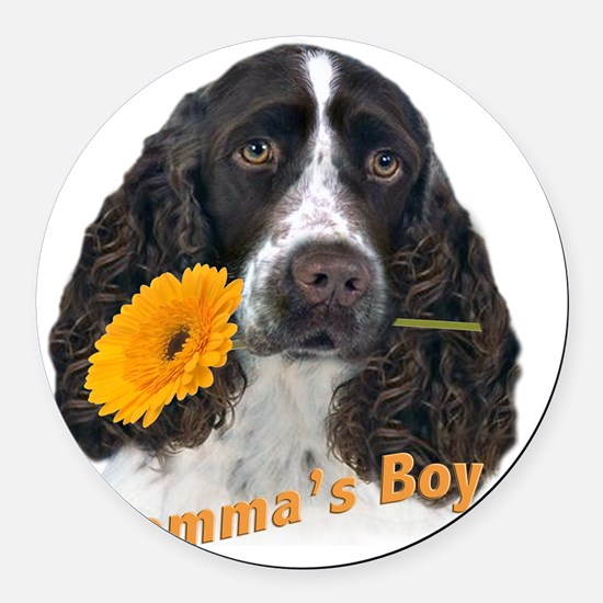 English Springer Spaniel Mommas B Round Car Magnet