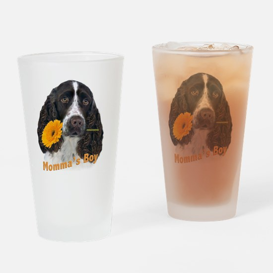 English Springer Spaniel Mommas Boy Drinking Glass