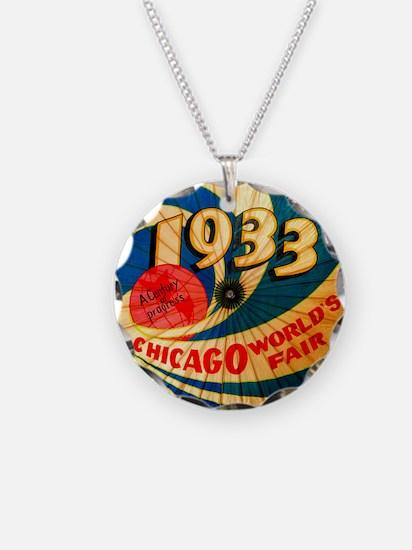 1933 Chicago Worlds Fair Parasol Advertising Art N