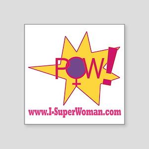 "POW! Square Sticker 3"" x 3"""