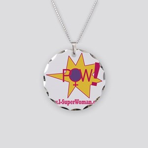 POW! Necklace Circle Charm