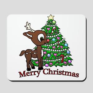 Merry Christmas (baby Deer) Mousepad