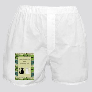 2_cats_fathers_day_card Boxer Shorts