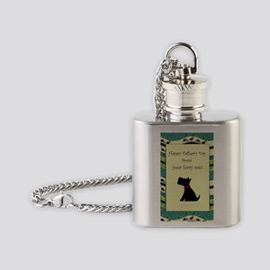 black_scotty_fathers_day_card Flask Necklace