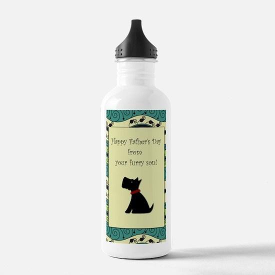 black_scotty_fathers_d Water Bottle