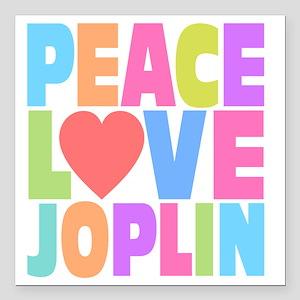 "Peace Joplin Square Car Magnet 3"" x 3"""