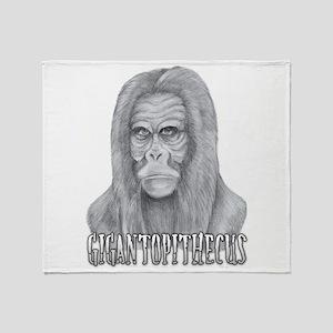 Gigantopithecus Throw Blanket