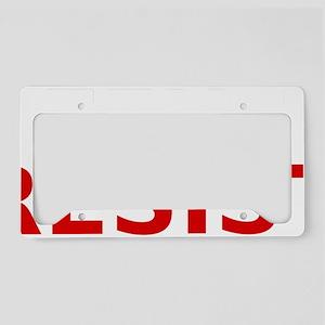 refuseresist License Plate Holder