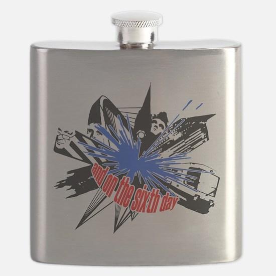Manchester Outline black Flask
