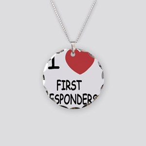 FIRST_RESPONDERS Necklace Circle Charm
