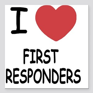 """FIRST_RESPONDERS Square Car Magnet 3"""" x 3"""""""